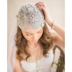 """""""Daisy"""" Cap Veil #vintagebride #capveil #weddingveil #veil #bridalaccessories"""