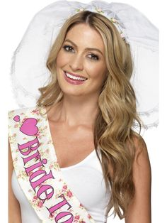 Purchase your hen night veil for your hen night parties from the Halloween Spot. This white coloured veil looks beautiful and comes attached on headband. Party Accessories, Costume Accessories, Hens Party Themes, Party Ideas, Bride Headband, Hens Night, White Bridal, Costumes For Women, Fancy Dress
