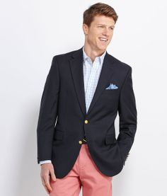 Mens Blazers and Jackets: 2 Button Men's Blue Blazer – Vineyard Vines Derby Outfits, Preppy Outfits, Preppy Men, Preppy Style, Style Men, Men's Style, Blue Blazer Men, Kentucky Derby Outfit, Gentleman