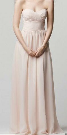 f90ec0bf720 Strapless sweetheart Ice Pink bridesmaid by Jinmeidress on Etsy