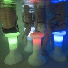 Pool Stool Underwater Pool Chairs with LEDs Pool Bar, Pool Lounge, Summer Pool, Summer Fun, Summer Heat, Bar Piscina, Living Pool, Outdoor Living, Pool Chairs