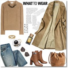 jeans & camel by gifra on Polyvore featuring Burberry, Tory Burch, Diane Von…