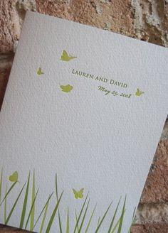 Green & Butterflies Invitation