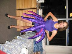 octopus costume pattern for adults | To make, I sewed a belt out of the satin fabric, eight tentacles, and ...