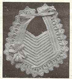 Grey Bungalow: Crochet - a Bib from 1915