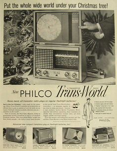 Philco Trans World Transistor Radio Ad,