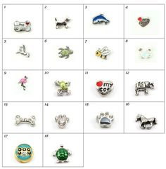 Charms for your Origami or Other Floating Locket by TresorCreation