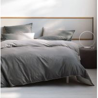 Deco by Linen House Newman Charcoal Queen Quilt Cover Set