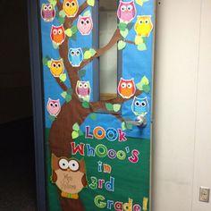 best 25 kindergarten classroom door ideas on classroom door school door Owl Classroom Door, Classroom Door Displays, School Displays, Kindergarten Classroom, Classroom Themes, Owl Door Decorations, Preschool Door Decorations, School Doors, Owl Themes