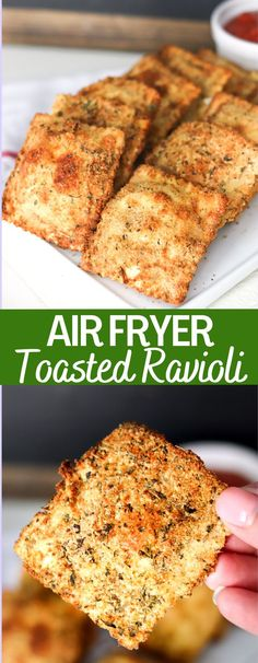 These crispy delicious toasted ravioli are a delicious appetizer or meal. This easy air fryer recipes takes all the guilt away from the toasted ravioli! I am including how to bake them as well as how to freeze and reheat!
