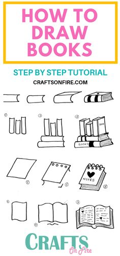 How To Draw A Book: Easy Step By Step Tutorial You'll Love – Craftsonfire How To Draw A Book: Easy Step By Step Tutorial You'll Love – Craftsonfire,Bücher WOW! Don't these book doodles look. Bullet Journal Art, Bullet Journal Ideas Pages, Bullet Journal Inspiration, Doodle Art For Beginners, Easy Doodle Art, How To Draw Doodle, Doodle Books, Doodle Art Journals, Doodle Drawings