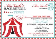 Carnival invitation template colorful carnival invitations birthday invitations carnival stopboris Images