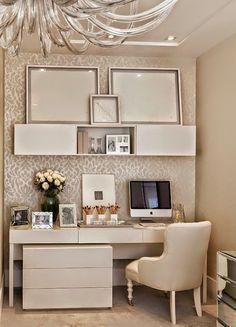 Quarto de casal cheio de conforto e forrado com papel de parede ~ Decoração e Ideias - casa e jardim