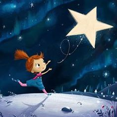 Lost little star – Children's Illustrations by Lucy www. Art And Illustration, Art Illustrations, Wallpaper Fofos, Cartoon Kids, Cute Wallpapers, Cute Drawings, Cute Art, Art For Kids, Fantasy Art