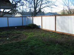 Privacy fence out of corrugated metal