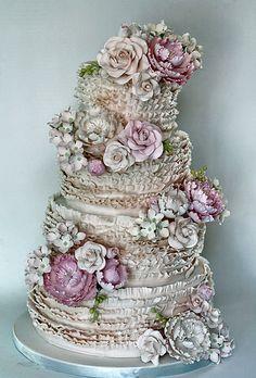 Antique Ruffles Cake