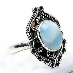 'Stone of Atlantis' Sterling Silver Larimar Ring, Size 8.25  Price : $42.25 http://www.silverplazajewelry.com/Stone-Atlantis-Sterling-Silver-Larimar/dp/B00EXY3T16