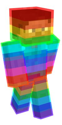 Check out our list of the best Rainbow Minecraft skins. Minecraft Slime Skins, Minecraft Skins Cute, Minecraft Ideas, Blue Slime, Mc Skins, Minecraft Characters, Bendy And The Ink Machine, Paper Toys, Best Games