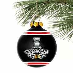 Chicago Blackhawks 2013 Stanley Cup  Champions Christmas Ornament