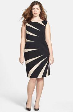 #Tahari                   #Dresses                  #Tahari #Starburst #Ponte #Sheath #Dress #(Plus #Size) #Khaki/ #Black         Tahari Starburst Ponte Sheath Dress (Plus Size) Khaki/ Black 22W                                        http://www.snaproduct.com/product.aspx?PID=5323734