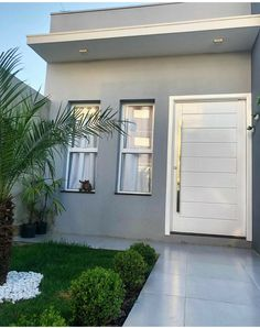 House Floor Design, Bungalow House Design, Small House Design, Small House Exteriors, Modern House Facades, Minimal House Design, Minimal Home, Home Building Design, Building A House