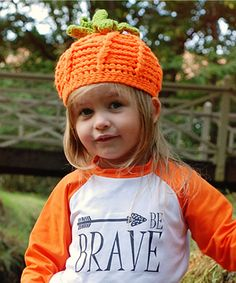 Look at this Dress Up Dreams Boutique Orange Crocheted Pumpkin Beanie on #zulily today!