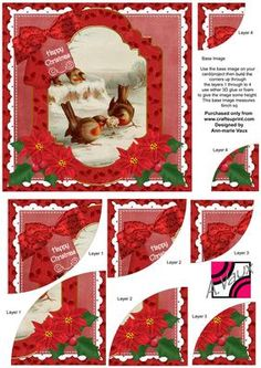 Tug of Love Christmas 6in Duo Corner Stacker Card Front on Craftsuprint - Add To Basket!