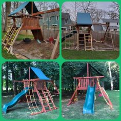 Relocation & Refurbish (relocate, sand, stain/seal) Wood Playground, Relocation Services, All Brands, Seal, Yard, Patio, Courtyards, Garden, Harbor Seal