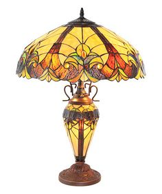 Look what I found on #zulily! Stained Glass Double-Lit Table Lamp #zulilyfinds
