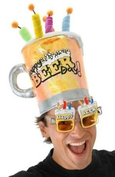 Birthday Beer Hat This Looks Like Lots Of Fun Party Hats 21st