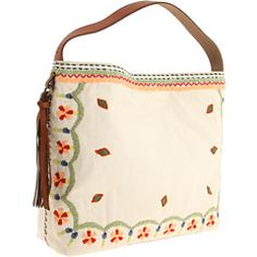 Lucky Brand Embroidered West Coast Hobo