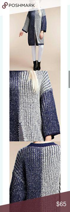 Two tone crochet sweater Long sleeve two tone crochet sweater Sweaters Crew & Scoop Necks