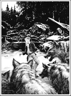Bernie Wrightson—look at that contrast!