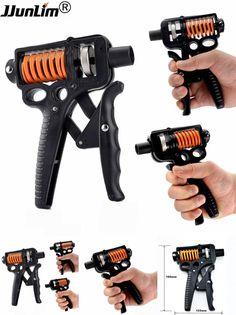 [Visit to Buy] 5-50 Kg Adjustable Hand Grip Strengthener Trainer Hand Gym Power Exerciser Gripper For Increasing Wrist Forearm Finger Strength #Advertisement
