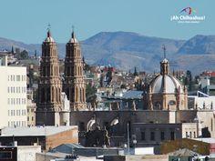 TURISMO EN CHIHUAHUA ¿Sabías  la Catedral de Chihuahua tiene forma de cruz? Si se observa desde las alturas, ésta hermosa catedral tiene forma de cruz latina, como se acostumbraban construir desde el renacimiento.  Junto con otras edificaciones como San Francisco, Santa Rita y el Santuario de Guadalupe como monumentos virreinales que aún se conservan en la ciudad. www.turismoenchihuahua.com