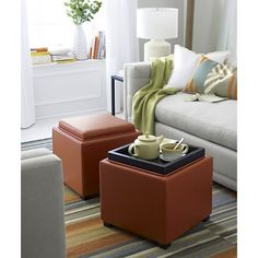 Stow Storage Ottoman I Crate and Barrel