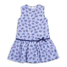 Vestido EPK para niña de estampado en tonos de azul