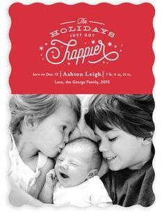 Christmas card/birth announcement