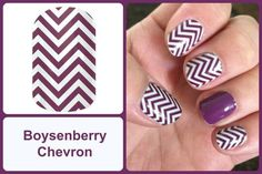 BOYSENBERRY CHEVRON Jamberry Nail Wraps  #BoysenberryChevronJN www.debsjaminails.jamberrynails.net