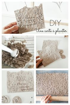 DIY Fête des Pères : une carte à planter – Flavie Peartree Diy For Kids, Crafts For Kids, Diy Paper, Paper Crafts, Papier Diy, How To Make Origami, Seed Paper, Diy Planters, Handicraft