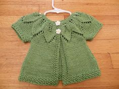 Modifications to Autumn Leaves by Natural State Knitting: Baby Leaf Sweater