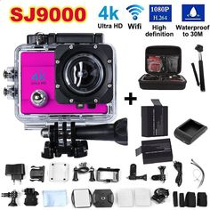 Free shiping! 4K ultra WIFI Action Camera 2.0 Inch 16MP 1080P Waterproof 30m 170 HD wide-angle lens Sport Camera no gopro