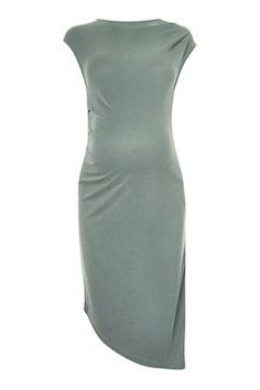 TOPSHOP MATERNITY Asymmetric Drape Midi Dress