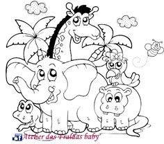 African Animals Coloring Pages | Download Bear Download Lion ...