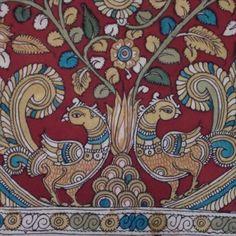 photo 3 of 4 hand painted fabric Kalamkari Painting (Un-framed)