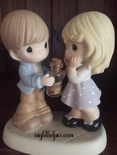 There is something about Precious Moments that warms my heart. I am not sure if it is their bigger than life eyes or memories they create for me with the on Precious Moments Figurines, My Precious, Greeting Cards Handmade, Baby Names, Pet Birds, Art Work, Holiday Gifts, Valentines Day, Angels