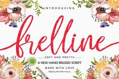 Frelline is a cute and casual handwritten font with an incredibly friendly feel. It features gorgeous swashes and ligatures that. Best Cursive Fonts, Handwritten Script Font, All Fonts, Calligraphy Fonts, Illustrator Cs, Premium Fonts, Design Bundles, Hand Lettering, Lettering Styles