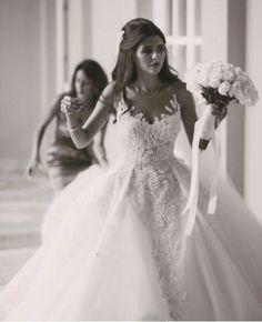 Beautiful wedding gown made by Maison Yeya
