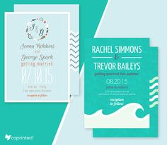 Free Wedding Invitations With Seaside Designs Template #wedding #free printable…