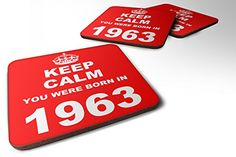 Keep Calm You Were Born In 1963 Wooden Drinks Bar Table S...…